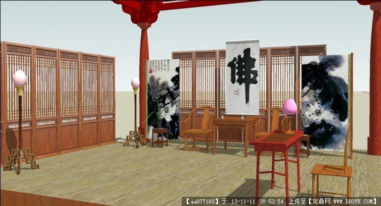 较为精细的中式家具系列su精品模型的下载地址
