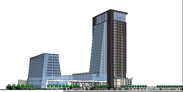商业中心su精品建筑设计模型