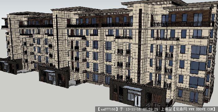 小高层住宅楼su建筑设计精品模型
