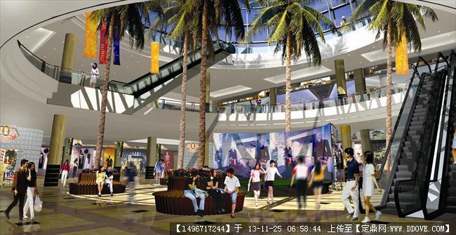 某商業廣場景觀設計圖-鋼城之魂地下的商城中庭