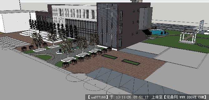 售楼处su精品建筑设计模型