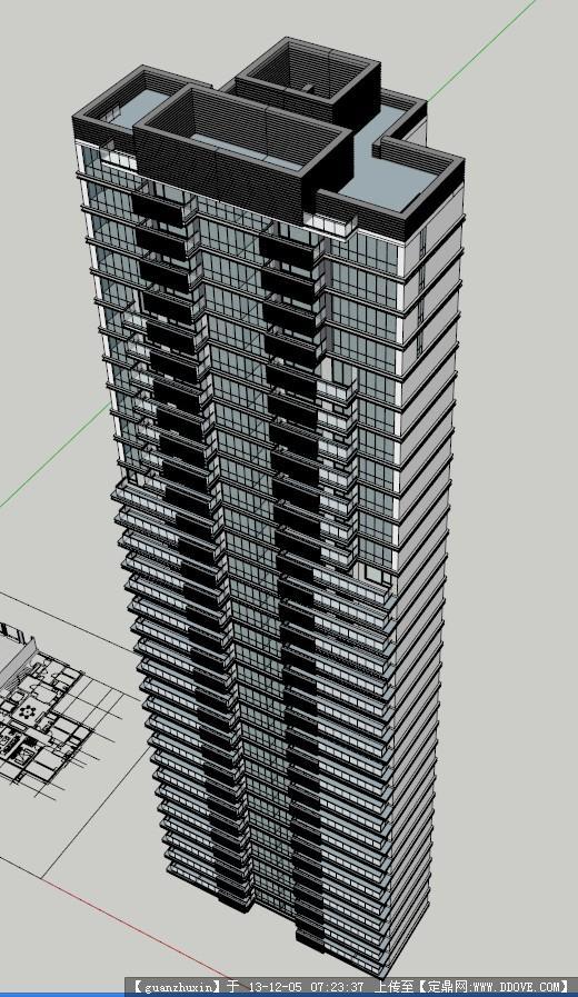 现代风格高层住宅模型