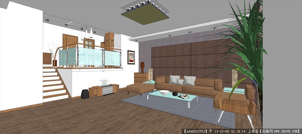 超精细室内sketchup模型---客厅