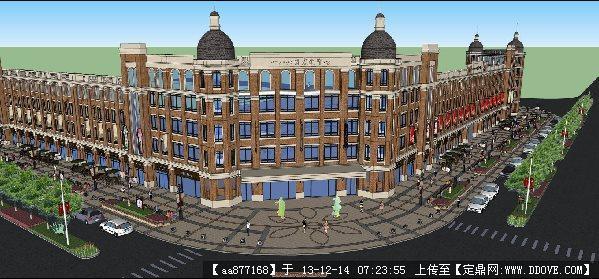 市政街道建筑外立面改造su精品建筑设计模型的下载