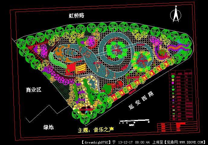 绿地公园设计平面图