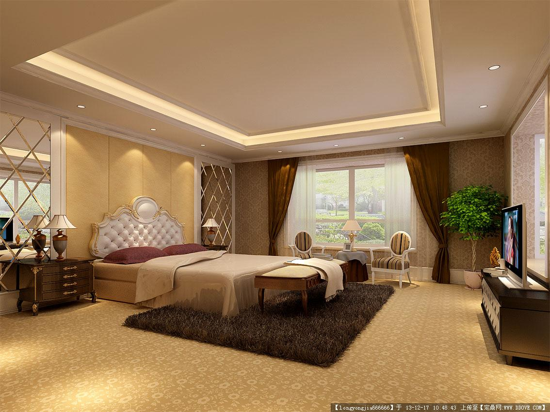 欧式卧室效果图 9 张 (高清)的图片浏览,室内效果图