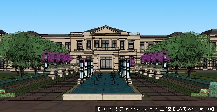 欧式商业+高层su精品建筑与景观设计模型的下载地址