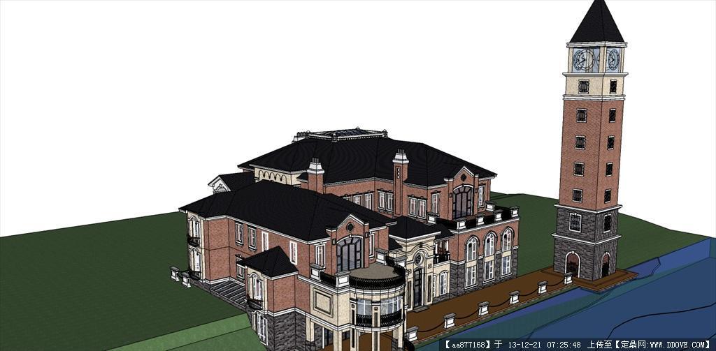 欧式别墅sketchup建筑精品模型