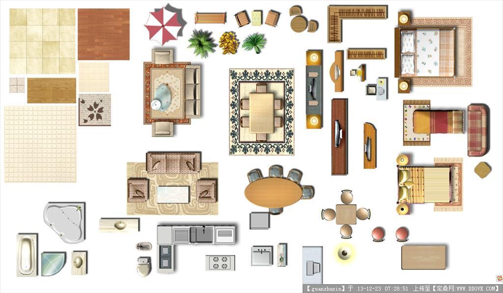 室内家具彩图专用psd格式