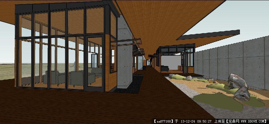 沙漠别墅su建筑设计精品模型