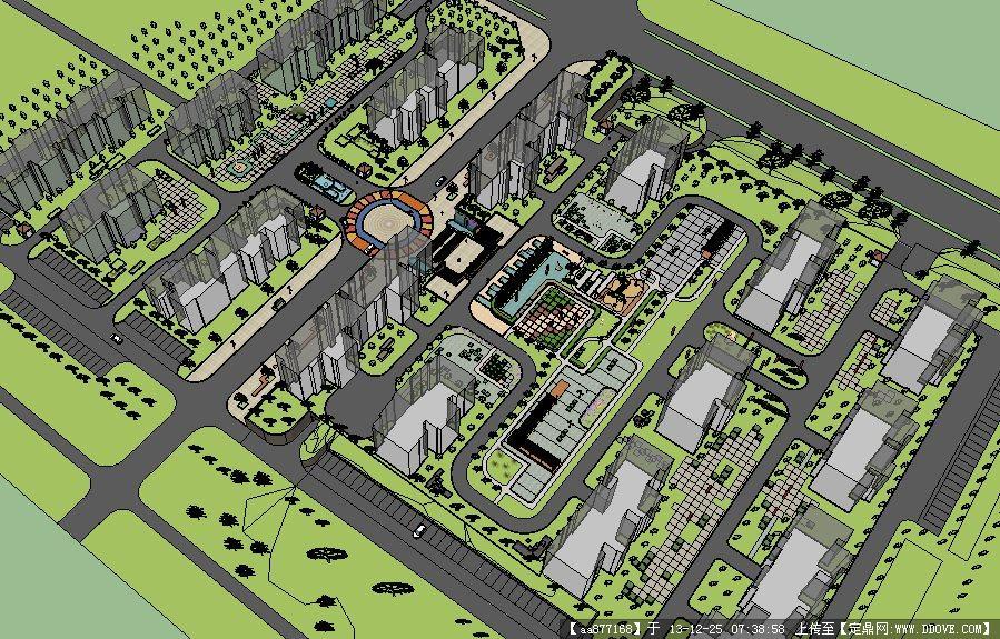 居住小区景观-西安交大曲江新村景观规划设计