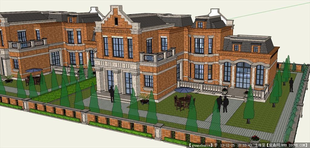 英式宫廷别墅建筑模型su草图设计