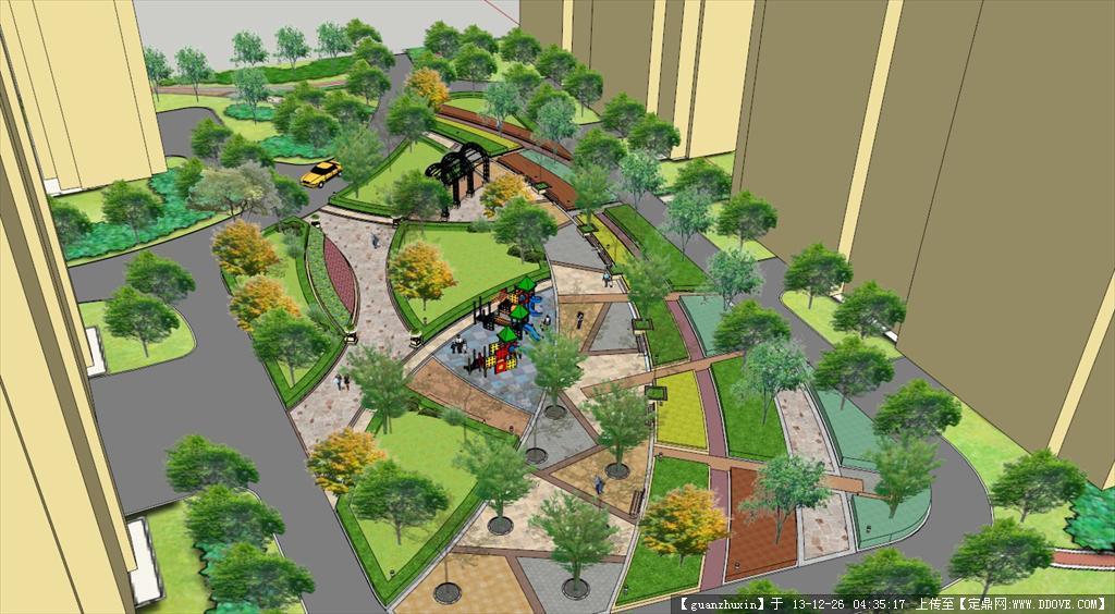 小区景观模型su的下载地址