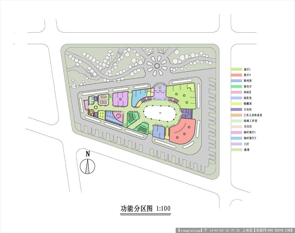 定鼎网 定鼎素材 psd模版 园林效果图 美术馆分区图  3 6.570m