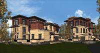 别墅建筑结构素材Sketchup模型图纸和局部比对比对图纸.swf图片