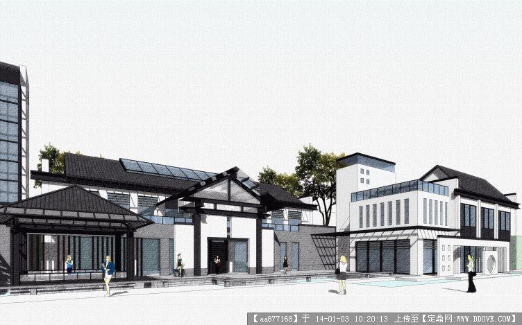 会所建筑设计方案sketchup精品模型
