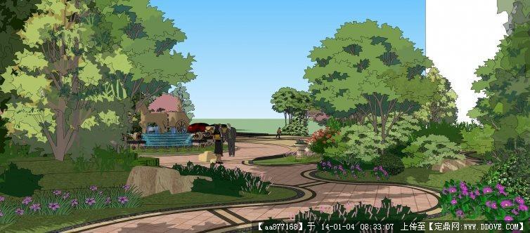 欧式小区sketchup景观精品模型