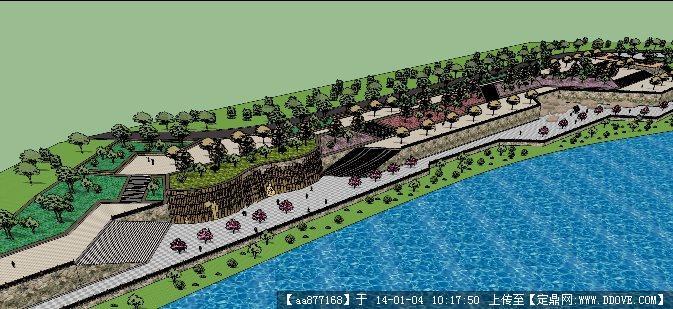绿色办公楼su精品建筑设计模型 一个小区欧式庭院sketchup景观精品