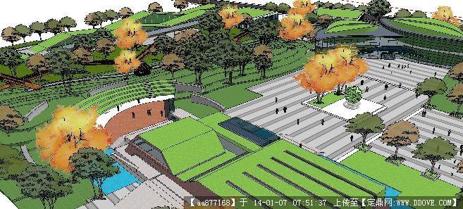 郊野公园su精品建筑与景观设计模型