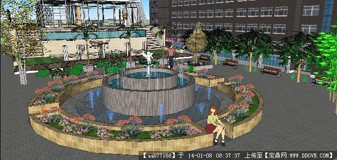 喷泉平面图手绘