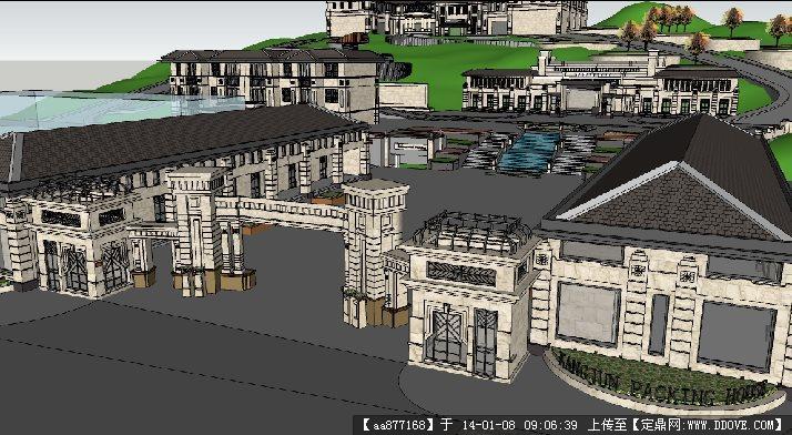 欧式山地会所sketchup建筑精品模型