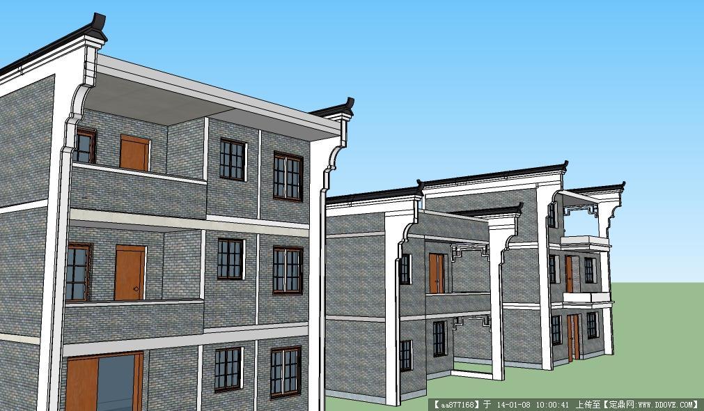 浙江新农村住宅户型图片大全下载; 公建形式高层住宅楼su模型