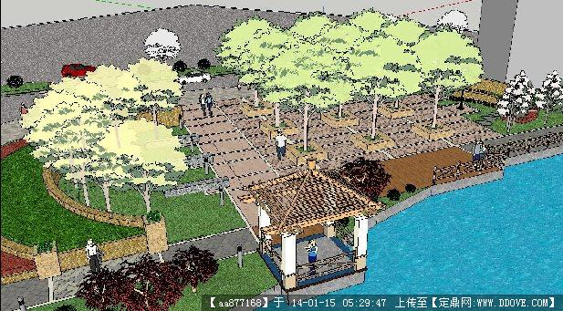 高架桥下绿地su精品景观设计模型