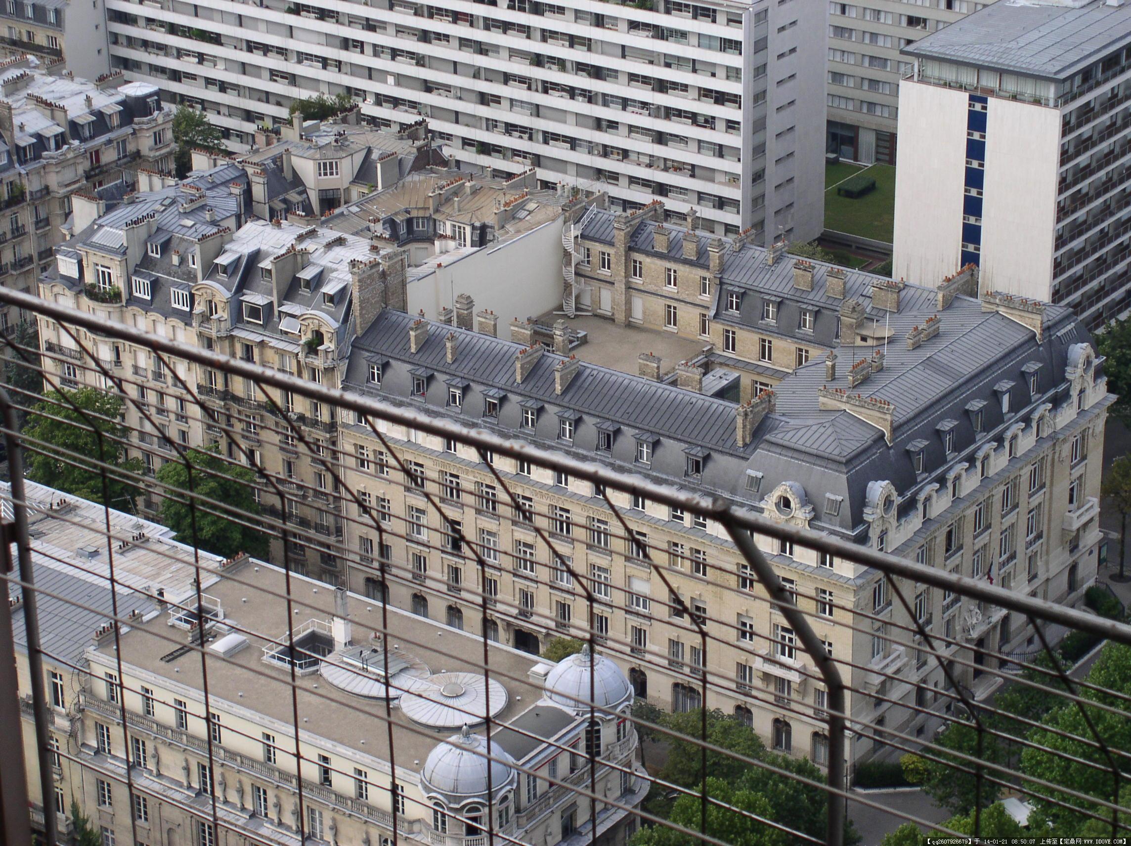 法国巴黎建筑鸟瞰图