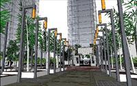 设计 屋顶花园/中式小区景观规划设计SU精品模型...