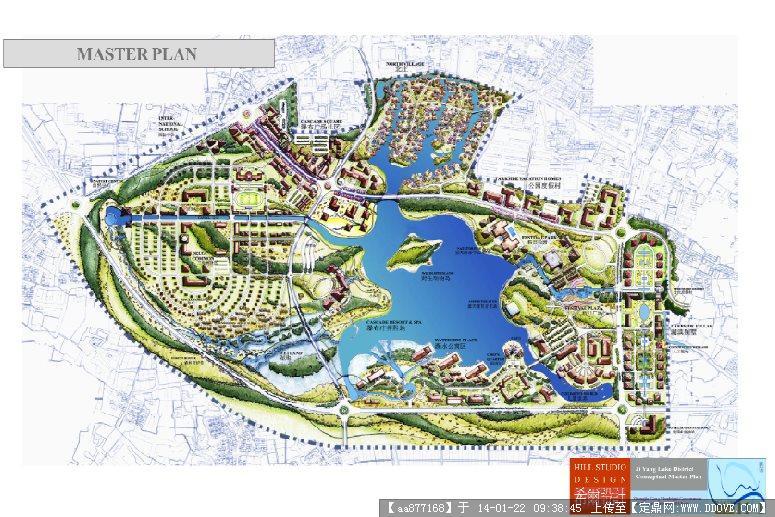 湖泊手绘平面图