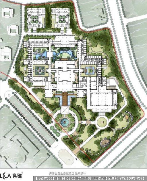 某生态城酒店景观设计2010图片