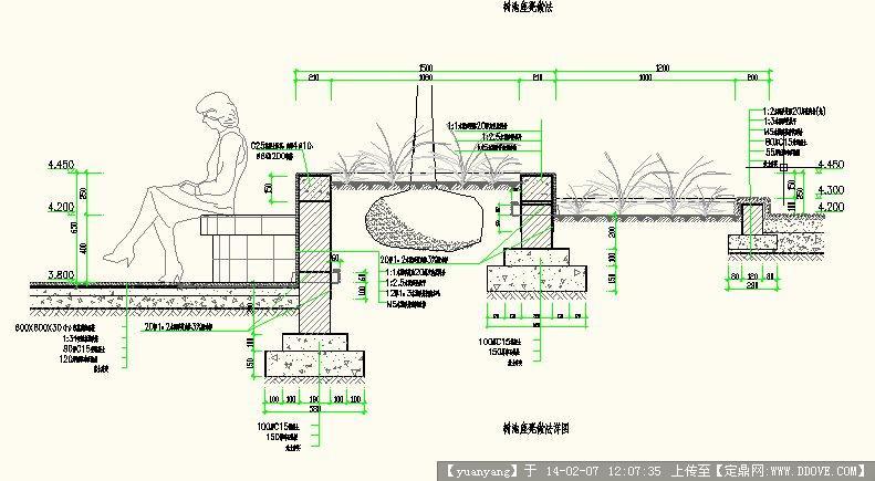 树池坐凳做法施工图