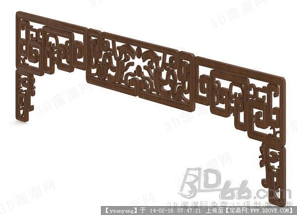 室内木雕花板 3d max模型