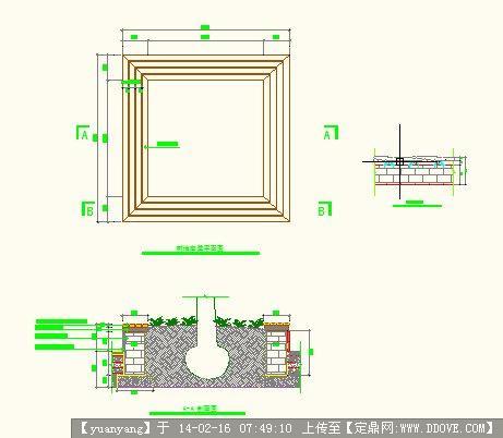 防腐木花池坐凳施工图