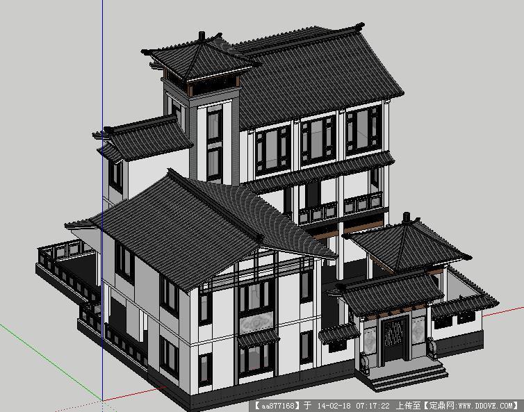徽派独栋别墅设计图内容|徽派独栋别墅设计图版面设计