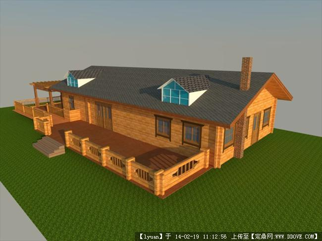 木结构建筑效果图