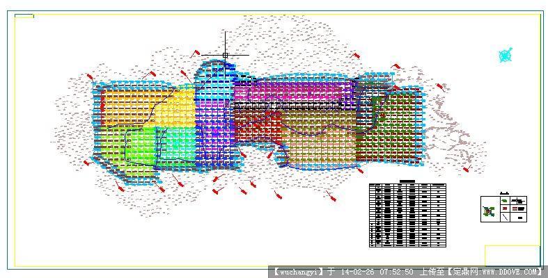 水泥工厂5000t/d总平面布置图