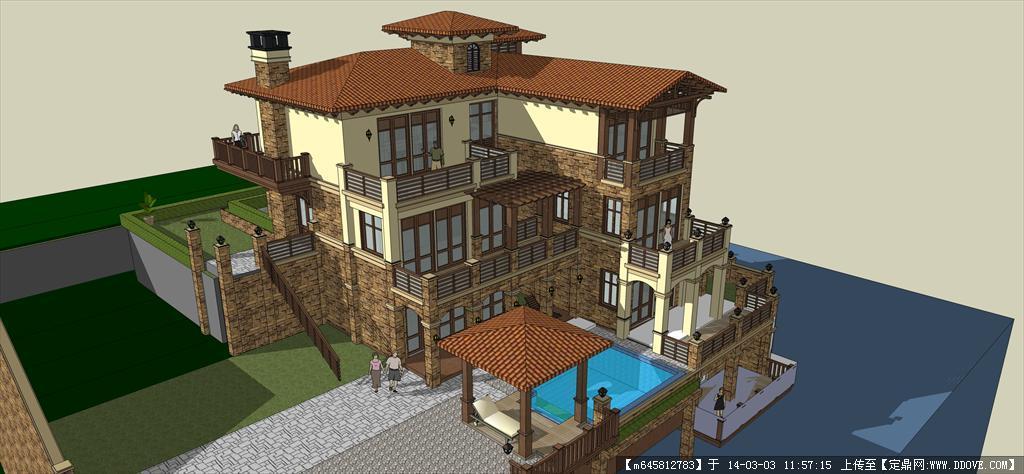 精品模型---欧式独栋别墅4