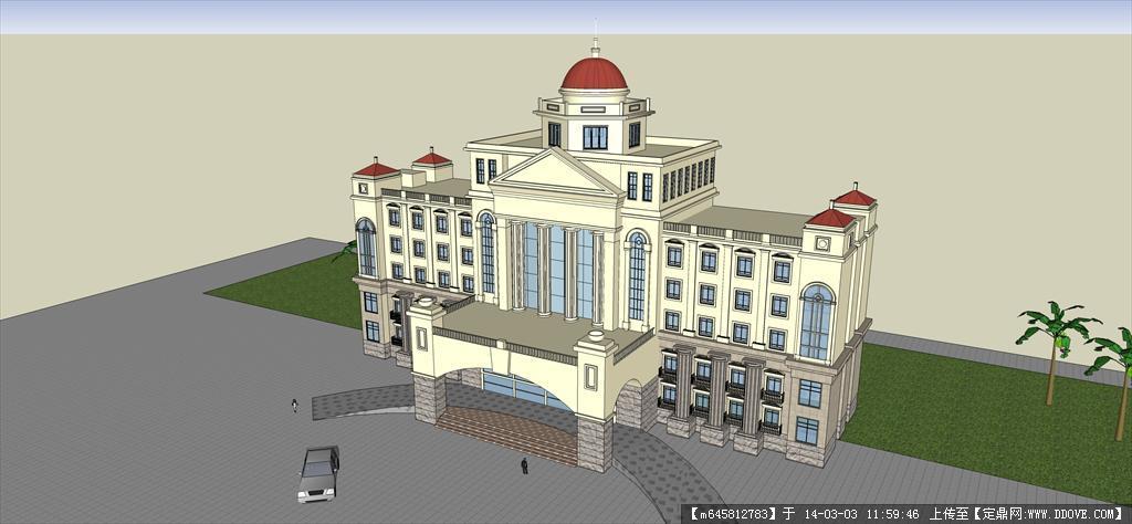精品模型---欧式多层办公楼