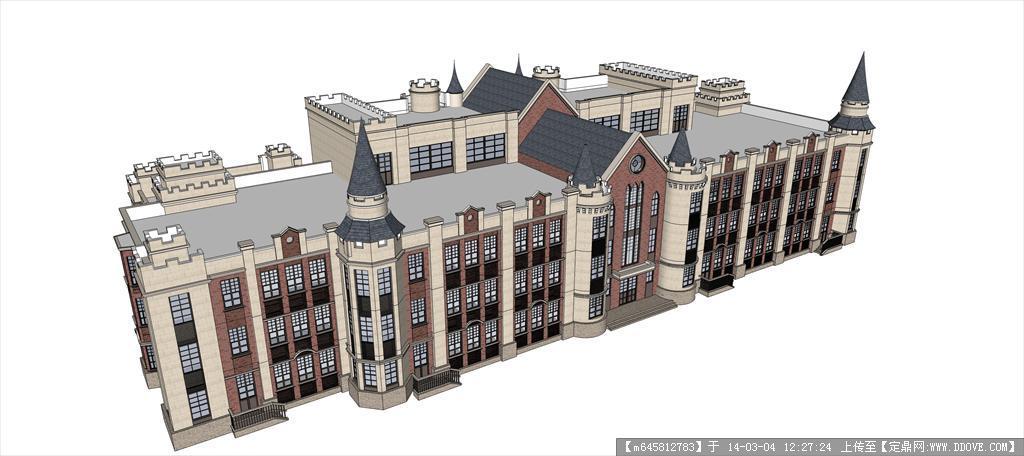 精品模型---欧式风格多层办公楼