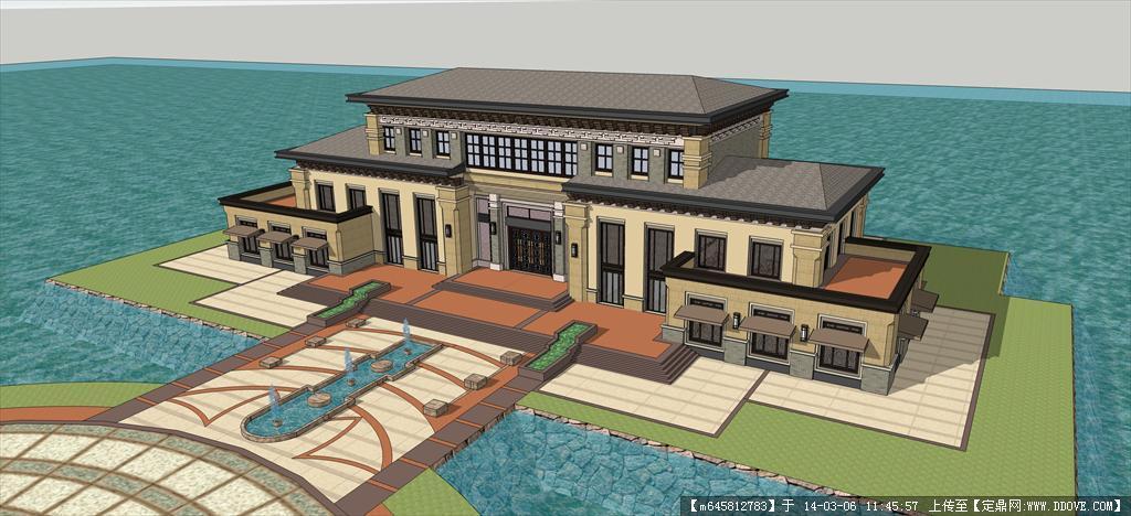 精品模型---欧式水景会所设计的下载地址