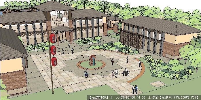 农家乐木屋设计 农家乐设计效果图 小型农家乐规划设计