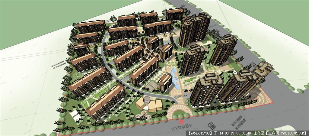 精品模型---欧式住宅小区规划及景观