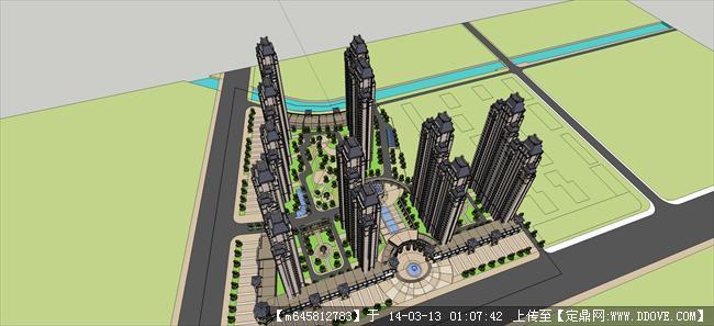 精品模型---欧式住宅小区及景观