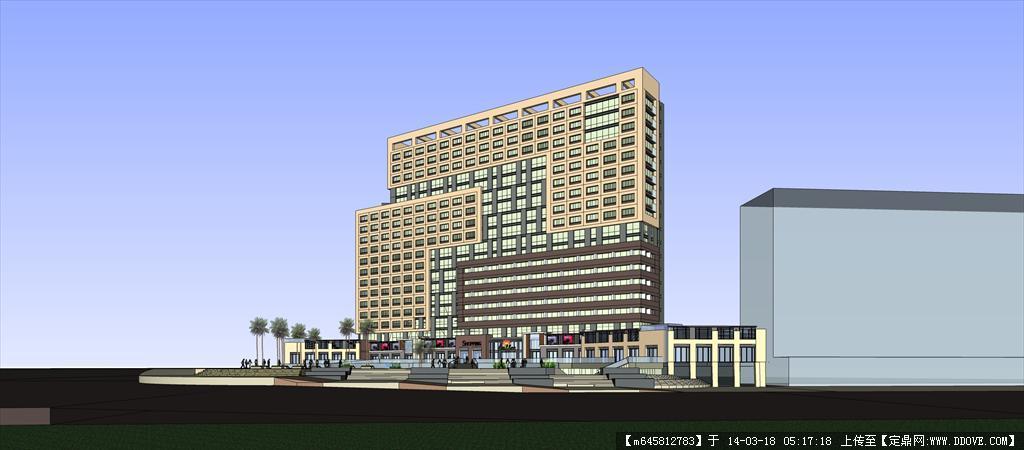 精品模型---现代高层酒店式公寓