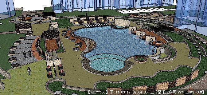 室外游泳池平面素材