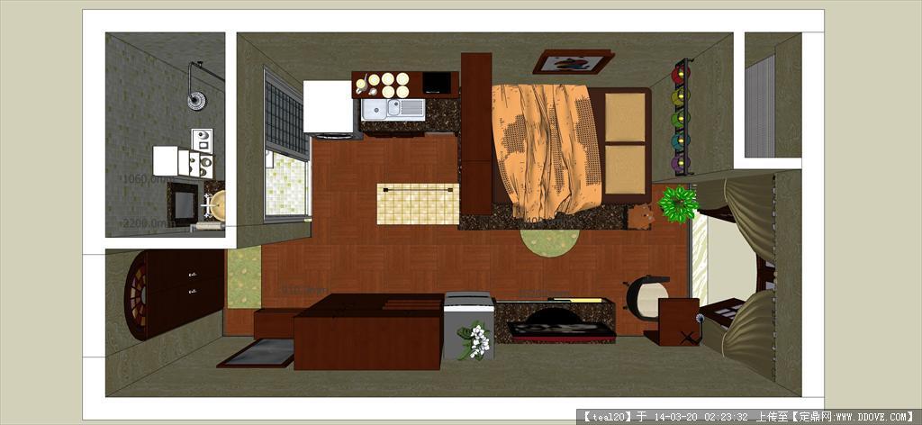 小户型室内设计模型