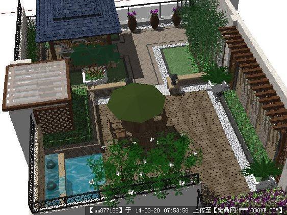 联排别墅庭院设计图片