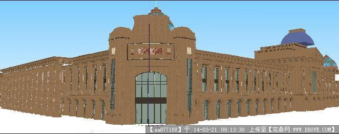(干挂成品jrc)一个欧式商业建筑su精致设计模型