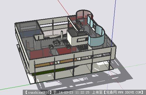 萨伏伊别墅su模型()中庭要求面积别墅的图片